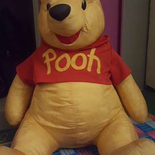 Pooh teddy bear giant soft toy 1 meter