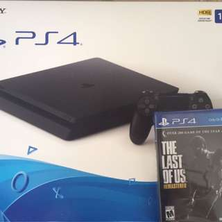 Ps4 slim 1tb bnib with the last of us