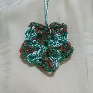 Handmade Crochet Glittering Flower I Star