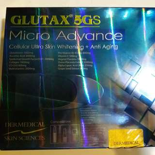 GLUTAX 5GS Micro Advance Cellular Ultra Skin Whitening + Anti Aging
