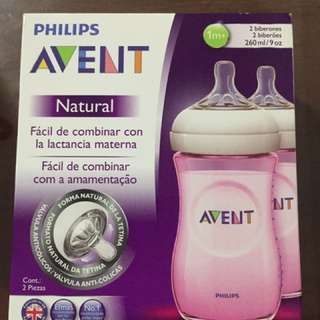 Phillips Avent Natural Feeding Bottle Pink
