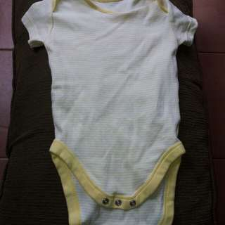 Jumper mothercare 12m-18m yellow stripe white