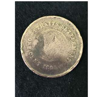 Queen Victoria 1895 Old coin(123 years) Straits Settlements