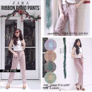 ZR RIBBON PLAID PANTS
