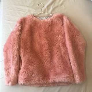 Joyrich毛絨粉色衛衣