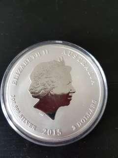 2015 Australia 2 Ounce Silver Coin