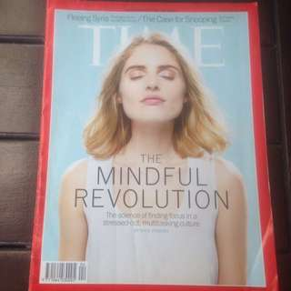 TIME Magazine : The Mindful Revolution - the science of finding Focus in a stressed out, multitasking culture by Kate Pickert !