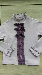 安妮公主有領女童上衣