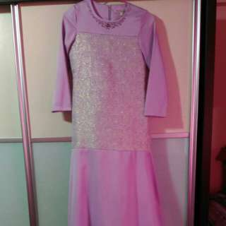 Preloved Girls Pastel Purple Long dress/Jubah