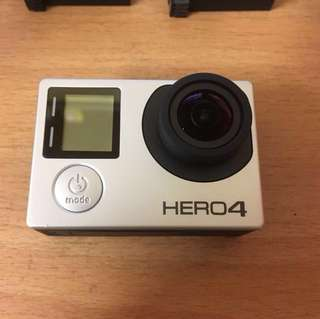 Gopro hero 4 silver + original dive filter + 2 batteries