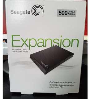 Seagate Portable Drive (External HDD) - 500 GB, USB 3.0 (BNIB)