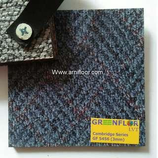 Lantai vinyl motif karpet banyak macam warna