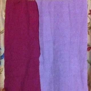 #冬季衣櫃出清~圍巾2條(紅/淺紫)