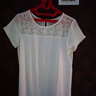 ACCENT - White Lace Shirt