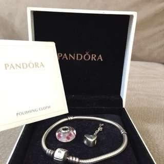 AUTHENTIC Pandora bracelet & charms