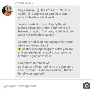 Thank you!💕 #HIGHLY RATED SELLER 2nd