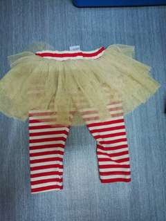 Baby skirt with legging