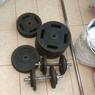 Kettler chrome bar weights