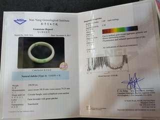 Natural Jadeite( TypeA)with Gemstone Report
