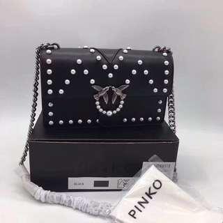 Pinko bag ! Black white pearl