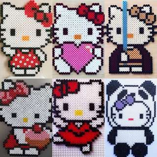 Hello Kitty Hama Bead Designs