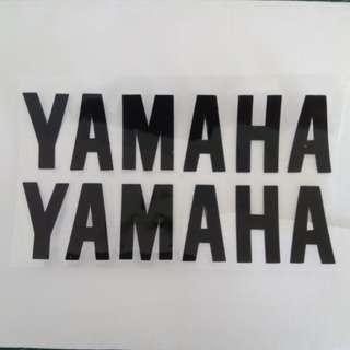 Black yamaha wording decal 2pc