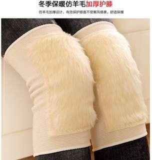 只限郵寄㊣冬季防寒保護仿羊毛加厚護膝套102G (圖片色) $50/件減至$45/件
