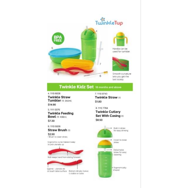 15% off retail prices! Tupperware Twinkle Totz / Kidz Set