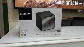 SONY ICF-C1T 收音機及便攜式 CD 播放器時鐘收音機