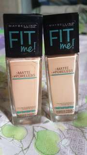 Buy 2 Maybelline Fit Me Foundation for only 500!