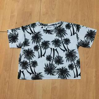Palm Trees Hanging Crop Top