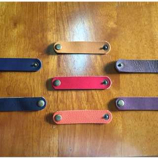 Leather Customized Cord Holders