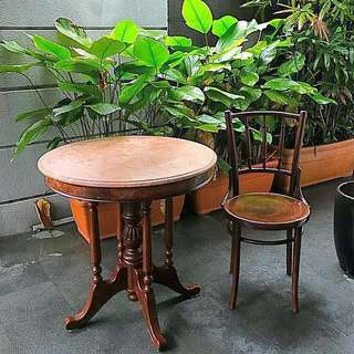 Peranakan Kopitiam marble Table and Chair