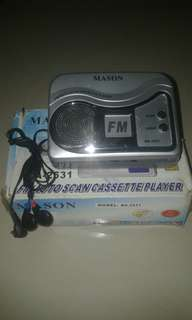 Walkman kaset radio