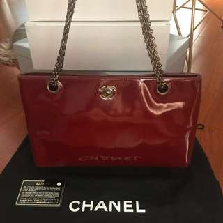 Vintage CHANEL Red Patent Reissue Purse