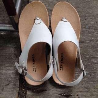 sandal white lef shoes