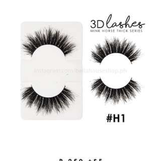 Bella 3D Mink Horse Thick Lashes - False Eyelashes