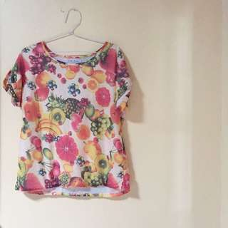 fruit blouse top