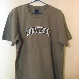Converse Khaki Green Tee