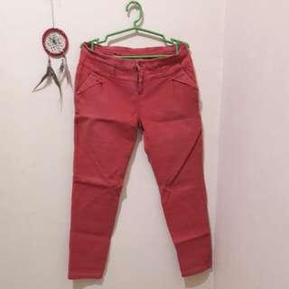 Red Orange Pants