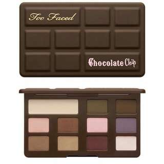 TOO FACED CHOCOLATE CHIP PALETTE SALE