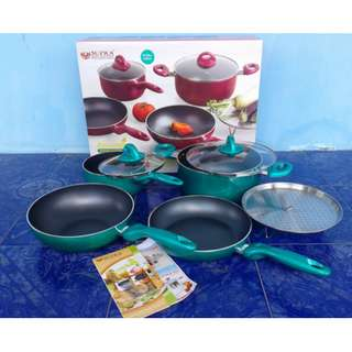 Panci Cookware Set 7Pieces Supra Rosemery 7 in 1