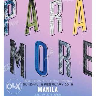 Lf paramore any ticket lowerbox standing or lb b or upperbox