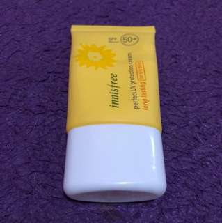 Innisfree long lasting sunscreen (for oily skin)