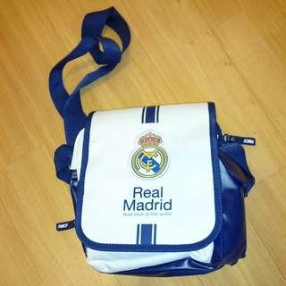 皇馬Real Madrid 白色側咩小袋
