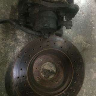 Brake caliper and disc