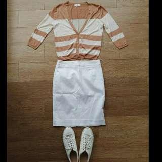 SET Rok + Cardigan blouse