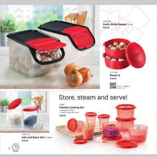 (Refer description) Tupperware food storage sets