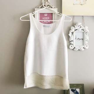 Camilla and Marc White Tank Top/ Cami Size 8