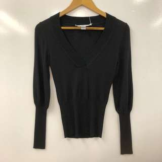 DVF black knitted top size P